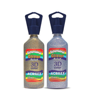 Acrilex 3D Glitter Colour 35ml