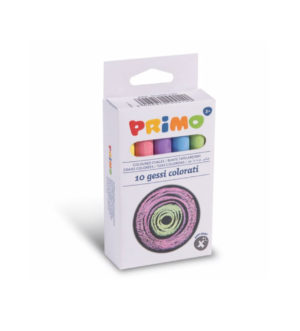 Primo Anti-dust Coloured Chalks 10pcs