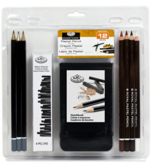 Royal & Langnickel Pastel Pencil with Sketchbook - 12 pc
