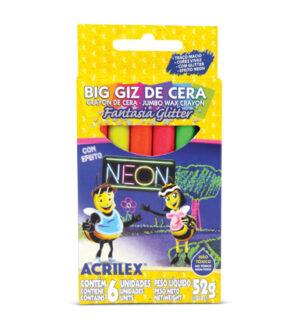 Acrilex Fantasy Glitter Jumbo Wax Crayon