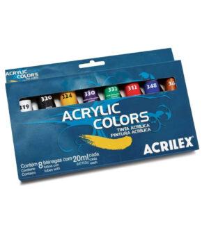Acrilex Acrylic Tube Colours (Set of 8)