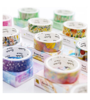 Blooming Flowers - Touch of Gold Foil Gilding Washi Tape