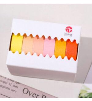 6 Set Colorful Washi Tape